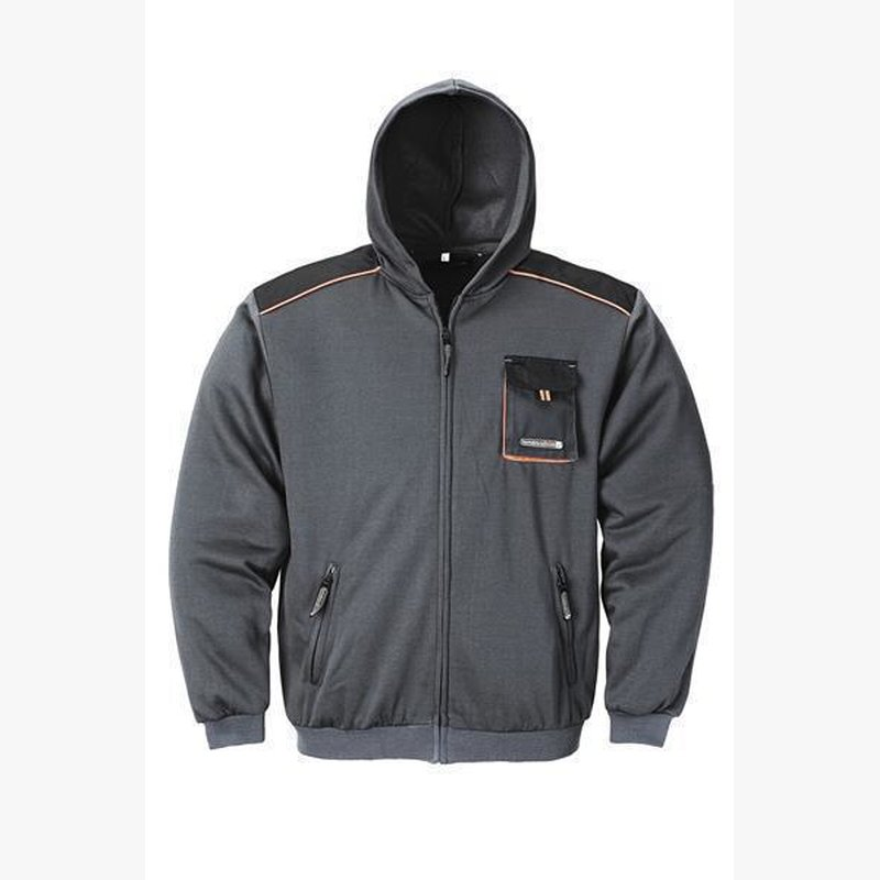 Sweatjacke dunkelgrau/schwarz/orange Terratrend Job