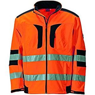 Warnschutz-Softshelljacke orange
